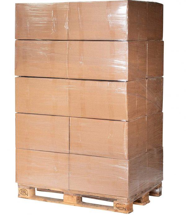 Miscanthus-Snips auf Palette, 20 Kartons je 30kg