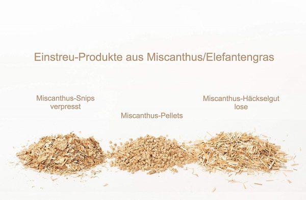 Miscanthus Einstreu weitere Produkte
